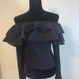 Hm Off the Shoulder Ruffle Top Size XL
